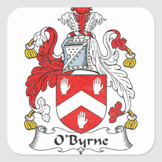 O'Byrne Family Crest Square Sticker