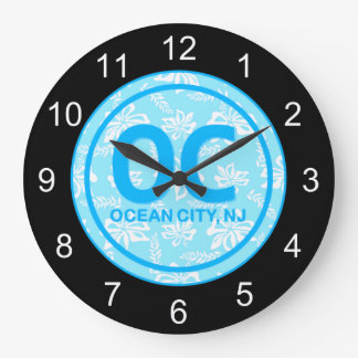 OC Ocean City NJ Blue Wall Clock
