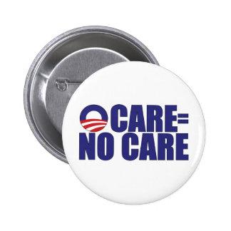 Ocare No Care Pinback Buttons