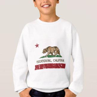 occidental california state flag sweatshirt