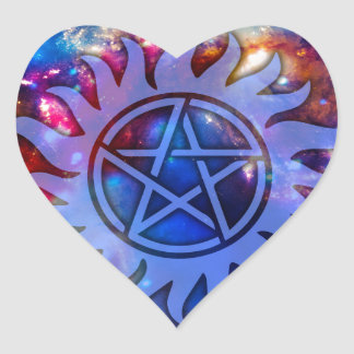 Occult Cosmos Heart Sticker