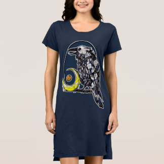 Occult Crow Sitting By The Moon Dress