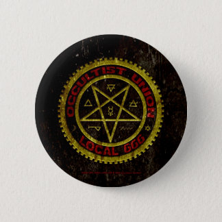 OCCULTIST UNION LOCAL 666    019 6 CM ROUND BADGE