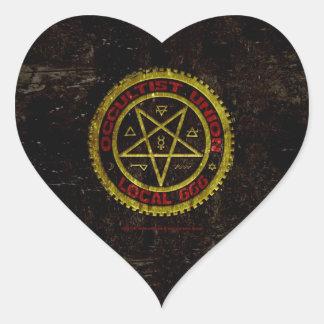 OCCULTIST UNION LOCAL 666    019 HEART STICKER
