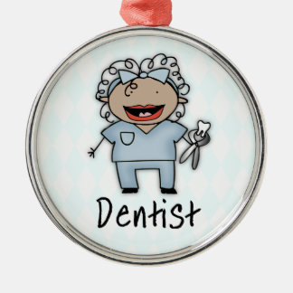 Occupation Dentist Professional Female Metal Ornament