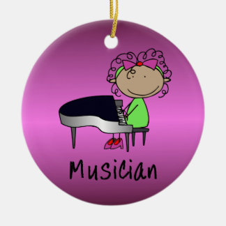 Occupation Musician Professional Female Custom Ceramic Ornament