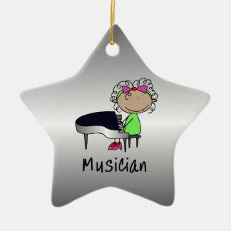 Occupation Musician Professional Female Custom Ceramic Ornament