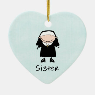 Occupation Nun Religious Vocation  Personalized Ceramic Ornament
