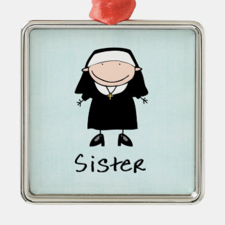 Occupation Nun Religious Vocation  Personalized Metal Ornament