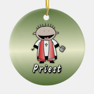 Occupation Priest Religious Clergy  Personalized Christmas Ornaments