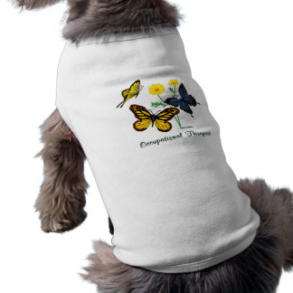 Occupational Therapist Butterflies Dog Clothes