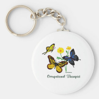 Occupational Therapist Butterflies Key Ring