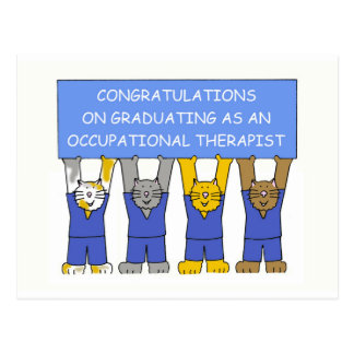 Occupational therapist graduate congratulations. postcard