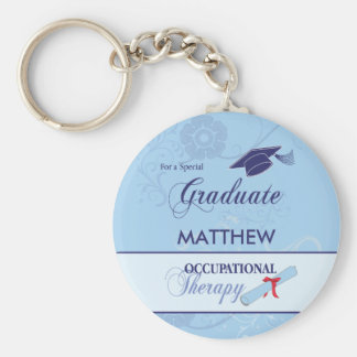 Occupational Therapist Graduation Swirl Round Gift Basic Round Button Key Ring