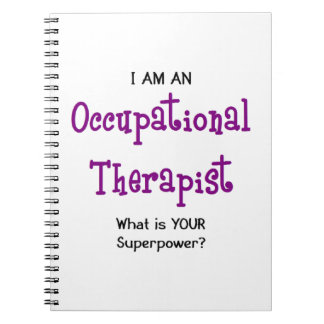 occupational therapist spiral notebook