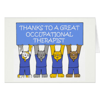 Occupational therapist thanks. card