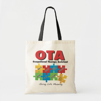 Occupational Therapy Assistant Tote Bag. Budget Tote Bag