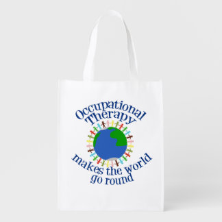 Occupational Therapy Makes the World Go Round Reusable Grocery Bag