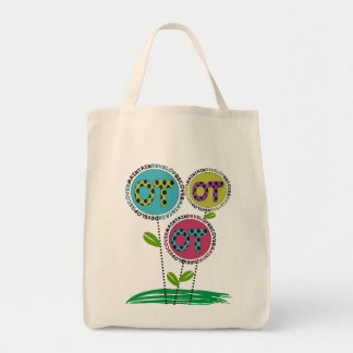 Occupational Therapy Tote Bags Floral Design