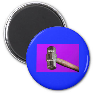 Occupations: Future Carpenter Sledgehammer Design 6 Cm Round Magnet