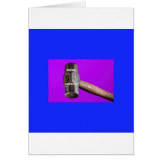 Occupations: Future Carpenter Sledgehammer Design Card