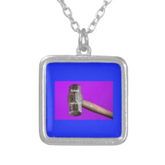 Occupations: Future Carpenter Sledgehammer Design Silver Plated Necklace