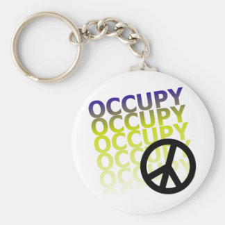 OCCUPY58 BASIC ROUND BUTTON KEY RING