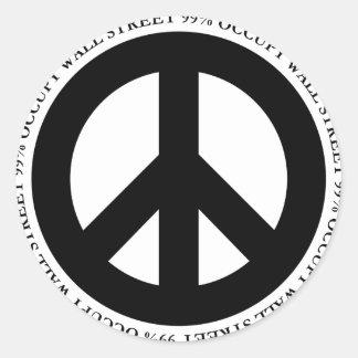 Occupy-11 Round Sticker