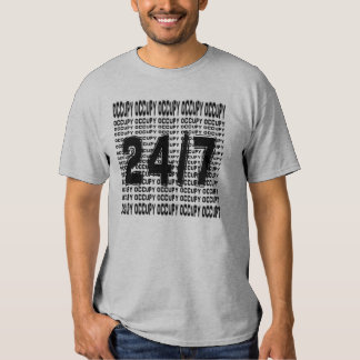 Occupy 24/7 ( wall street) t shirts
