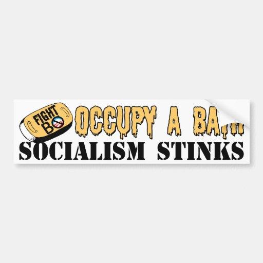 Occupy A Bath: Fight B.O. Bumper Sticker