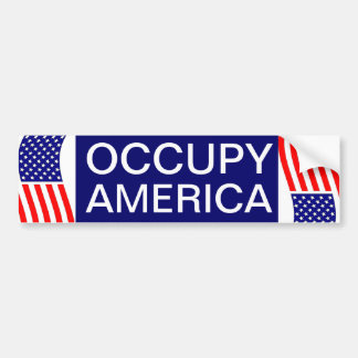 OCCUPY AMERICA BUMPER STICKER