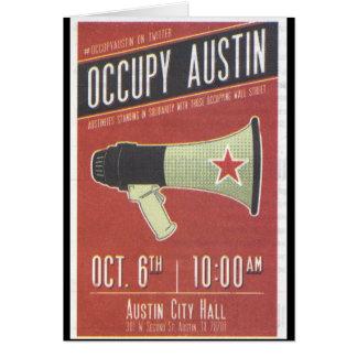 Occupy Austin - Occupy Wall Street Card
