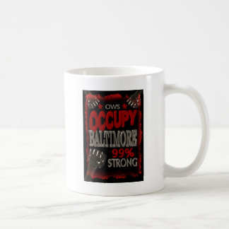 Occupy Baltimore OWS protest 99 percent strong Coffee Mug