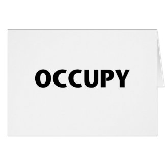 Occupy (Black on White) Card