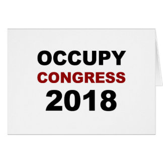 Occupy Congress 2018 Card