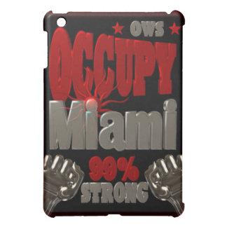 Occupy Miami OWS protest 99 percent strong poster iPad Mini Case