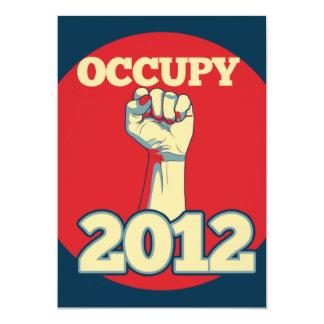 Occupy Movement 2012 13 Cm X 18 Cm Invitation Card