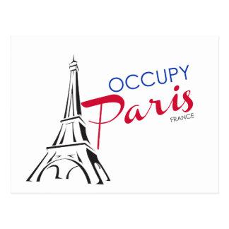 Occupy Paris France Postcard