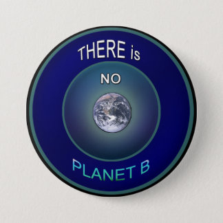 """Occupy Planet Earth """"There is NO Planet B"""" Button"""