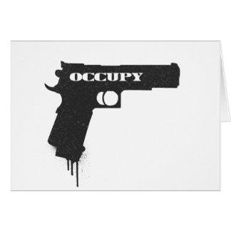 Occupy Rubber Bullet Gun Black Card