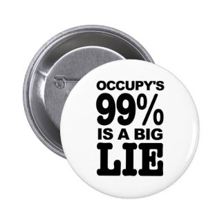 Occupy s 99 is a Big Lie Pinback Button