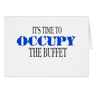 Occupy the Buffet  (the blue wave) Card