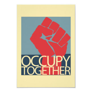 Occupy Together Protest Art Occupy Wall Street 9 Cm X 13 Cm Invitation Card
