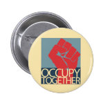 Occupy Together Protest Art Occupy Wall Street Badges