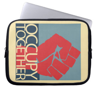 Occupy Together Protest Art Occupy Wall Street Laptop Computer Sleeve