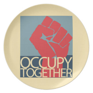 Occupy Together Protest Art Occupy Wall Street Plates
