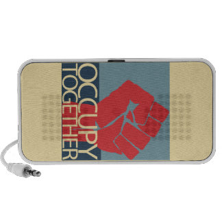 Occupy Together Protest Art Occupy Wall Street Portable Speaker