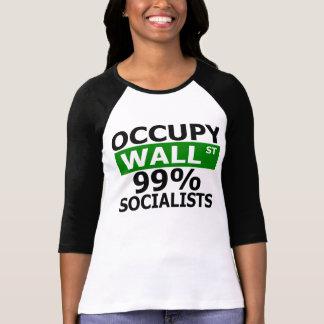 Occupy Wall St 99% Socialists Tee Shirt