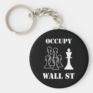 Occupy Wall St Basic Round Button Key Ring