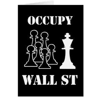 Occupy Wall St Greeting Card